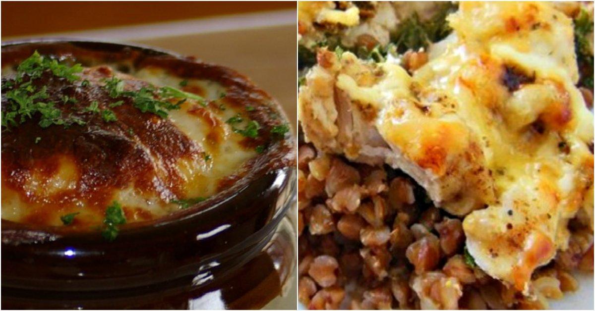 Курица в горшочках с гречкой в духовке пошаговый рецепт