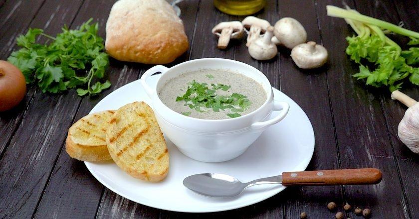 Грибной крем-суп от Джейми Оливера