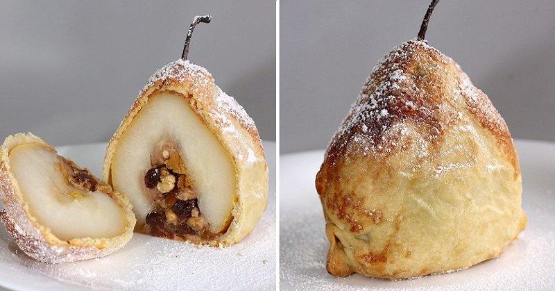 как приготовить груши в тесте