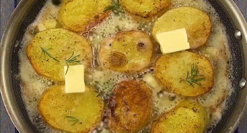 картошка с бульоном