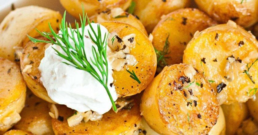 Хрустящая картошка на сковороде