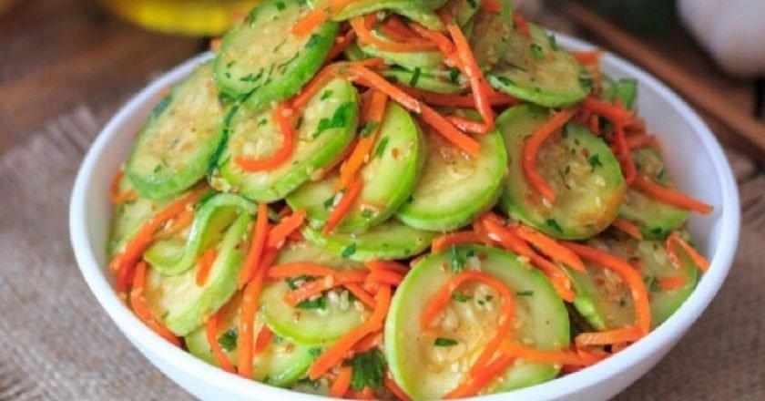 Смачні кабачки по-корейськи подивитися рецепт