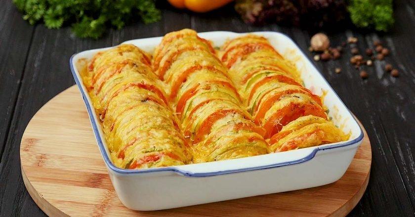 рецепт кабачка запеченного в духовке