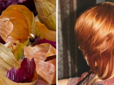 Как красить волосы луковой шелухой