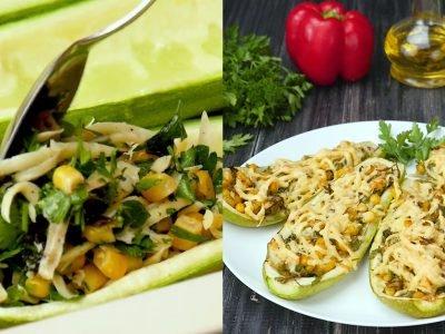 Как приготовить кабачки с кукурузой