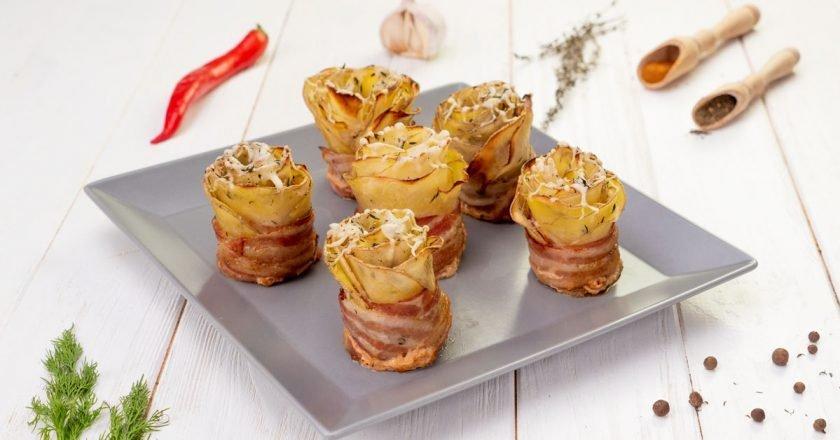 Как приготовить картофельные розы