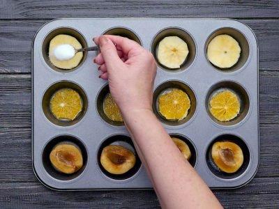 Как приготовить кексы с фруктами