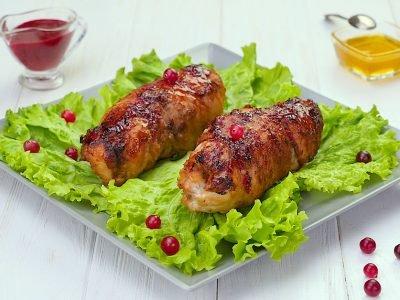 Как приготовить куриную грудку с клюквой