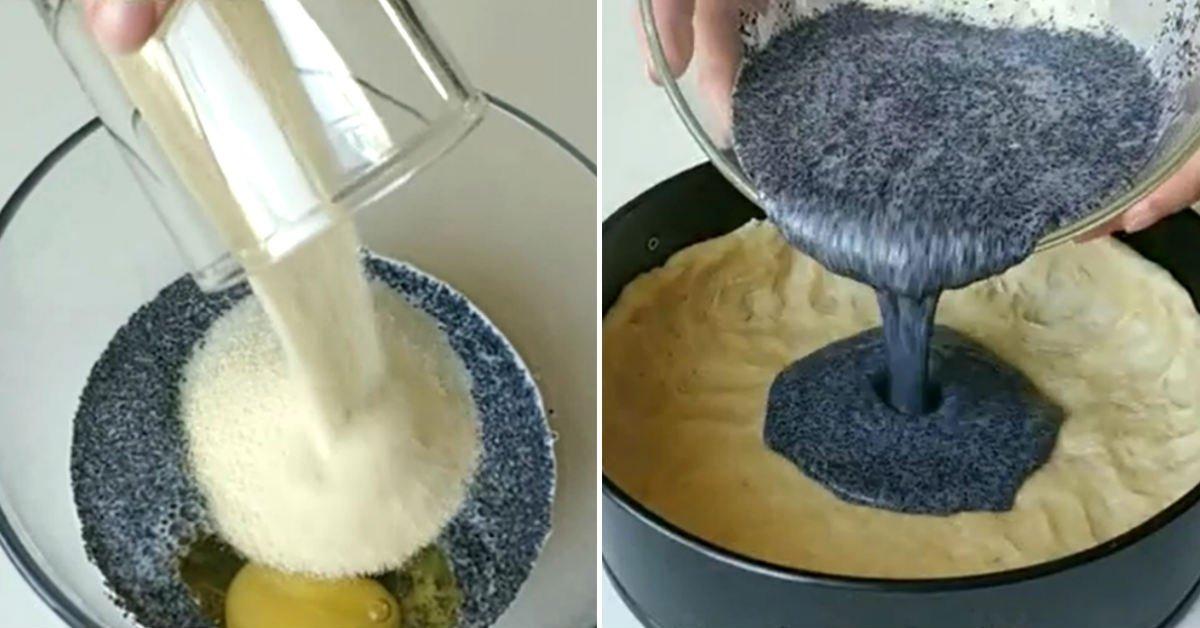 Маковий пиріг з манкою