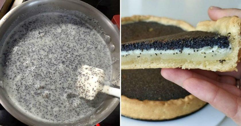 Маковий пиріг з манкою подивитися рецепт