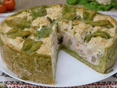 Как приготовить пирог с курицей и шпинатом