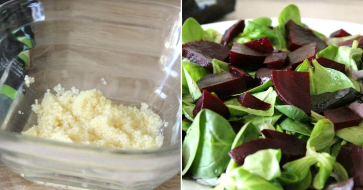 Буряковий салат з кускусом