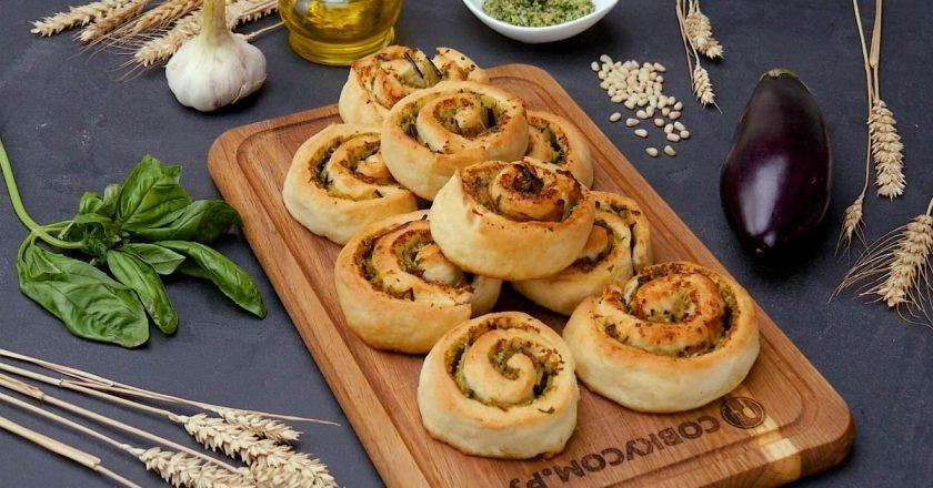 Как приготовить закусочные булочки «Улитки»