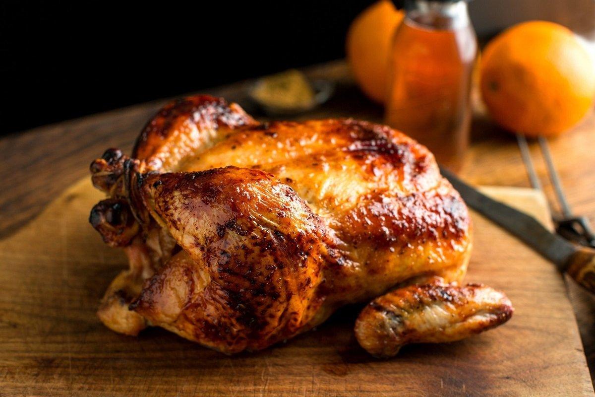 как запечь курицу целиком