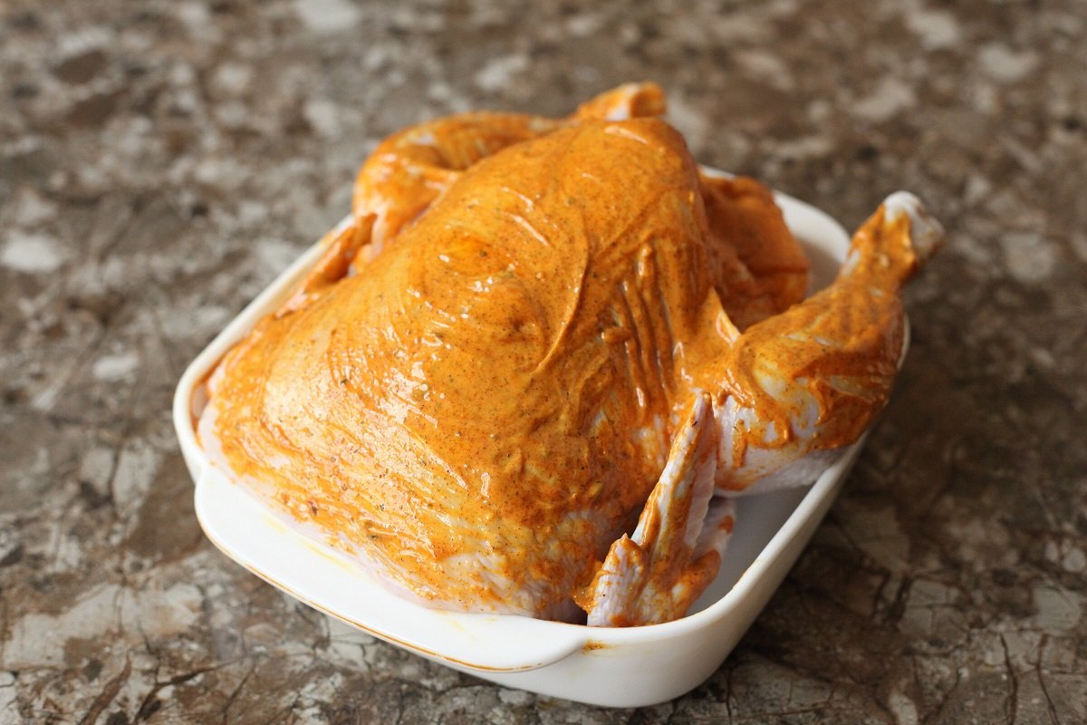 курица в масле рецепт
