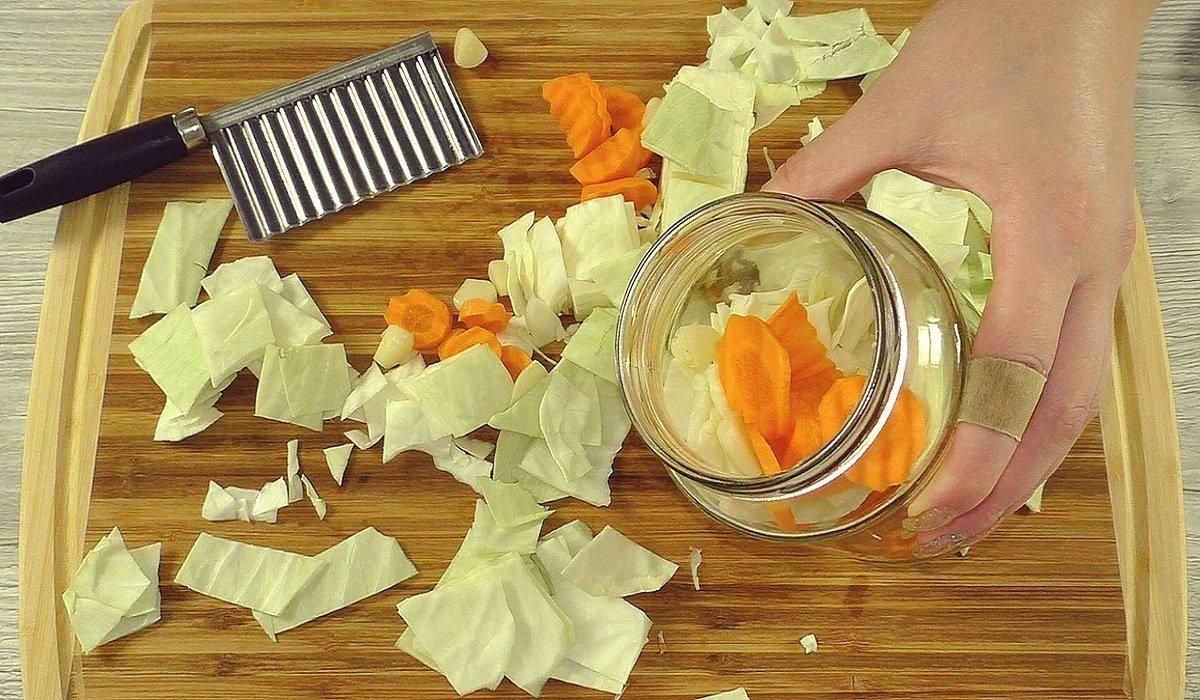 рецепт капусты с уксусом