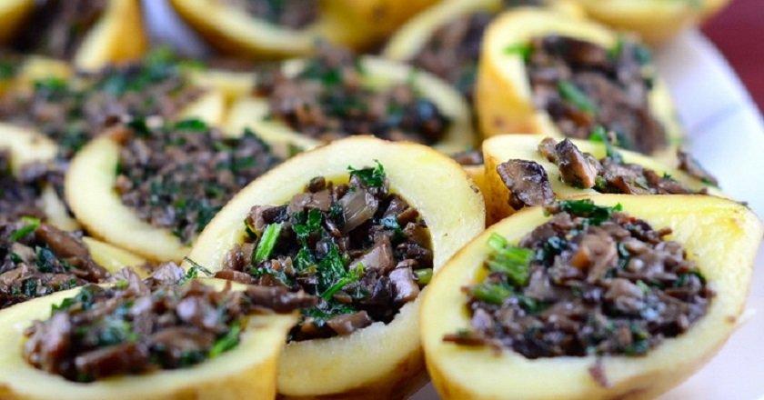 Картопля, фарширований грибами - готуємо з покроковими фото