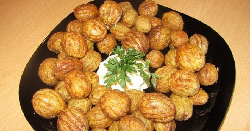 Картофель с чесноком «Орешки»