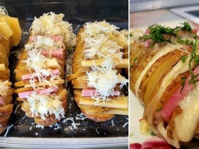Картофель с ветчиной и сыром