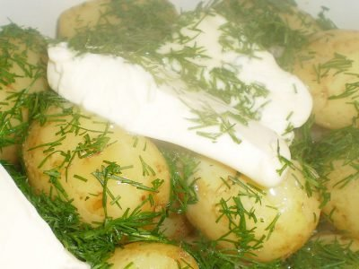 Картофель со сметаной