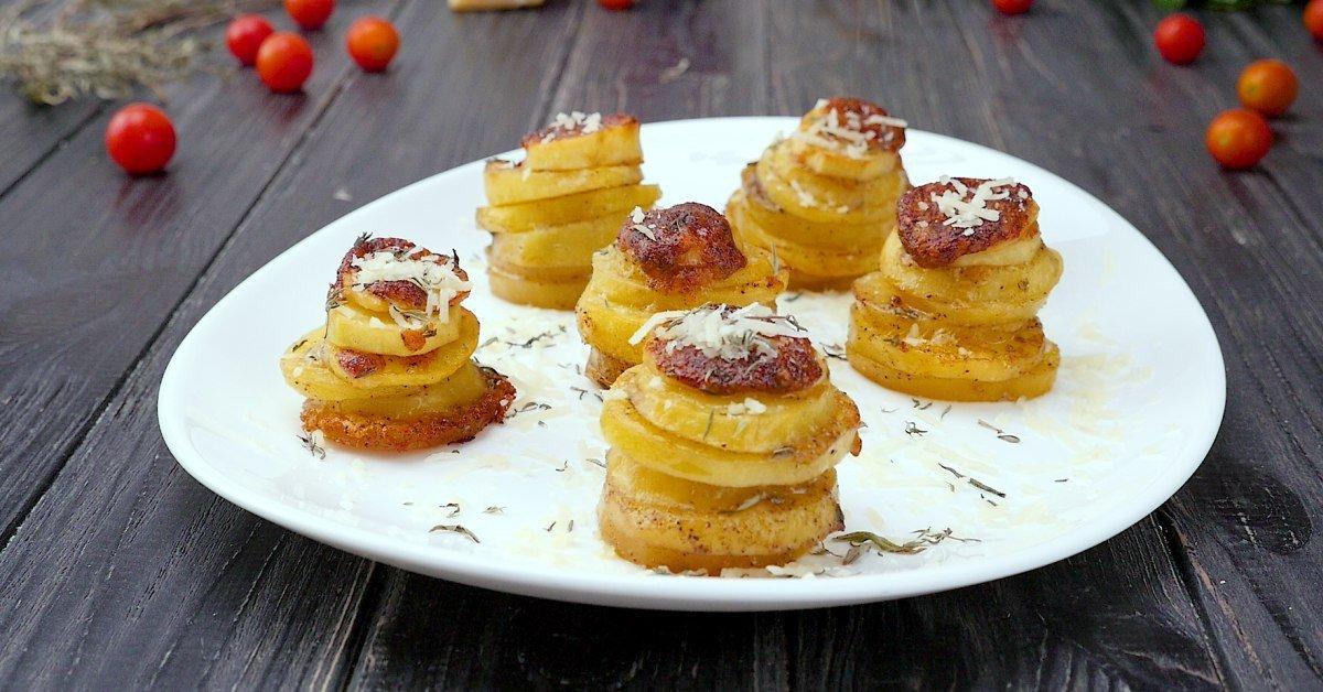 Картоплю в формочках - готуємо з покроковими фото