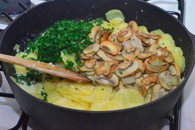 картофель со сливками и грибами пошаговый рецепт