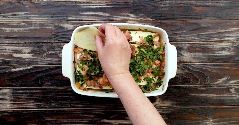Картофельная лазанья в духовке