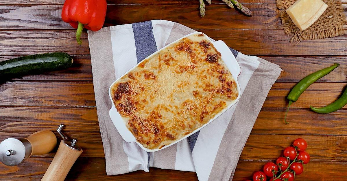 Картопляна запіканка з кабачками