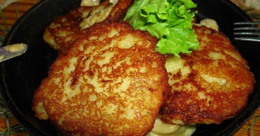 Драники картофельные с мясом в духовке рецепт