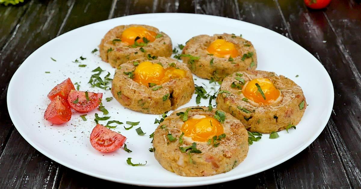 картофельные гнезда с яйцом