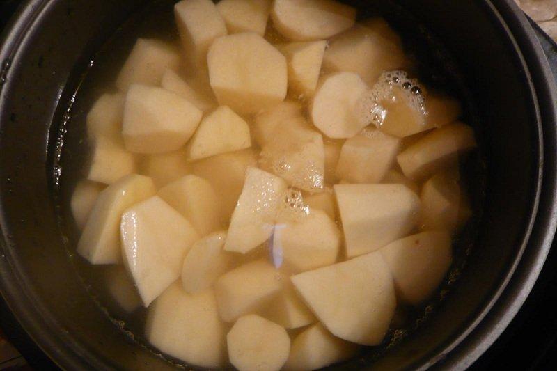 картофельный гнезда