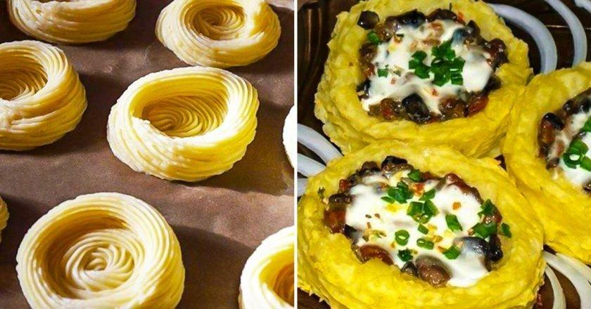 Картофельные «гнезда»