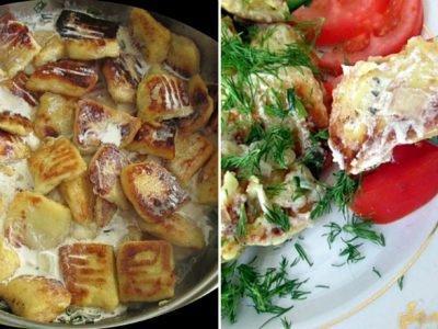 Картофельные клецки в сливочном соусе