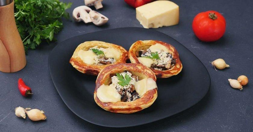 Картопляні кошики з грибами - готуємо з покроковими фото