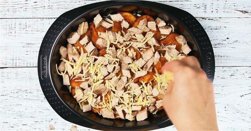 Картофельные начос со стейком