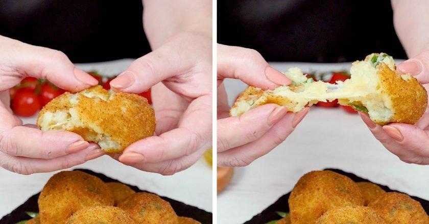 Картопляні кульки з сиром і цибулею подивитися рецепт