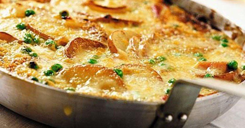 Картофельный омлет с грибами