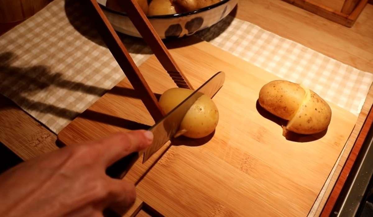 нарезание картошки