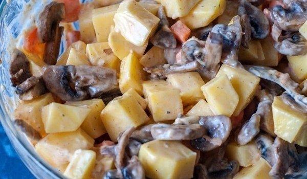 картошка, запеченная с яблоками
