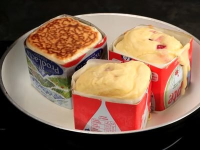 Кексы в коробке из-под молока