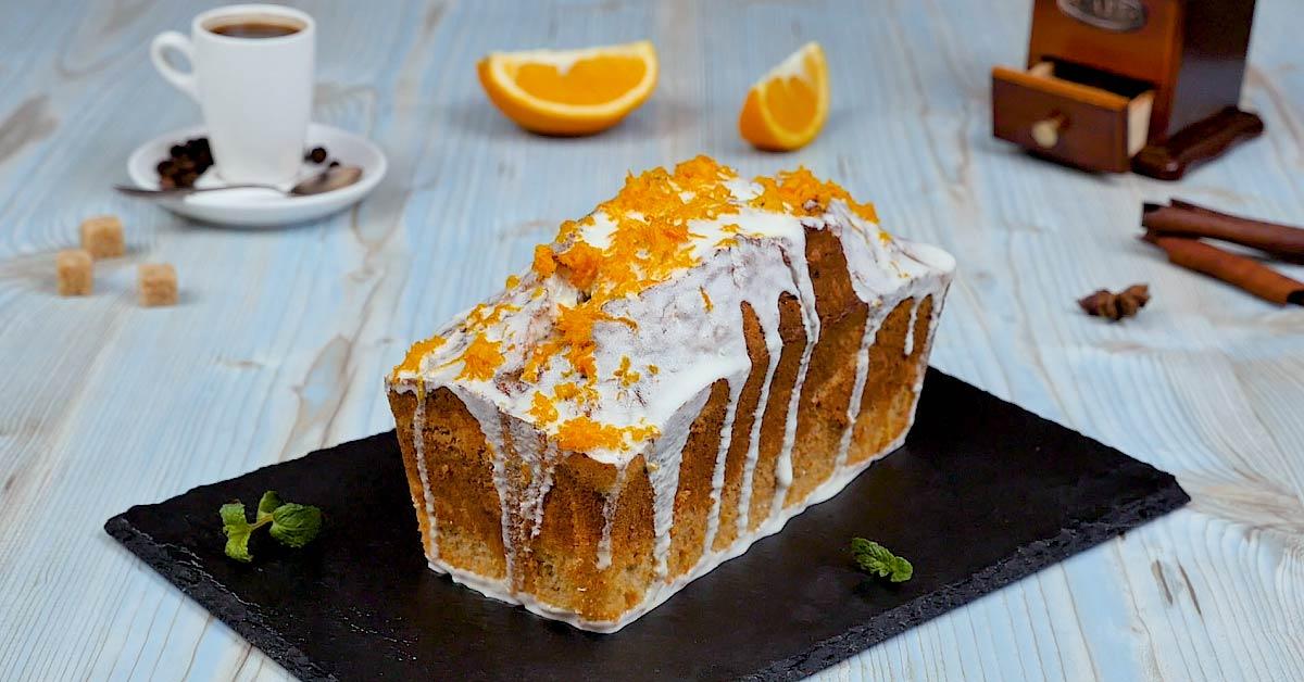 готовый кофейный кекс с апельсином