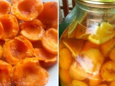 Компот из абрикосов и апельсинов