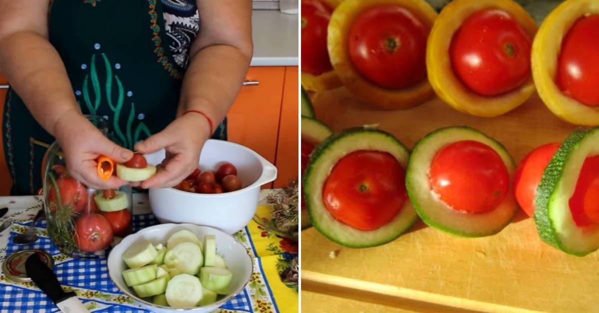 консервированные помидоры с кабачками