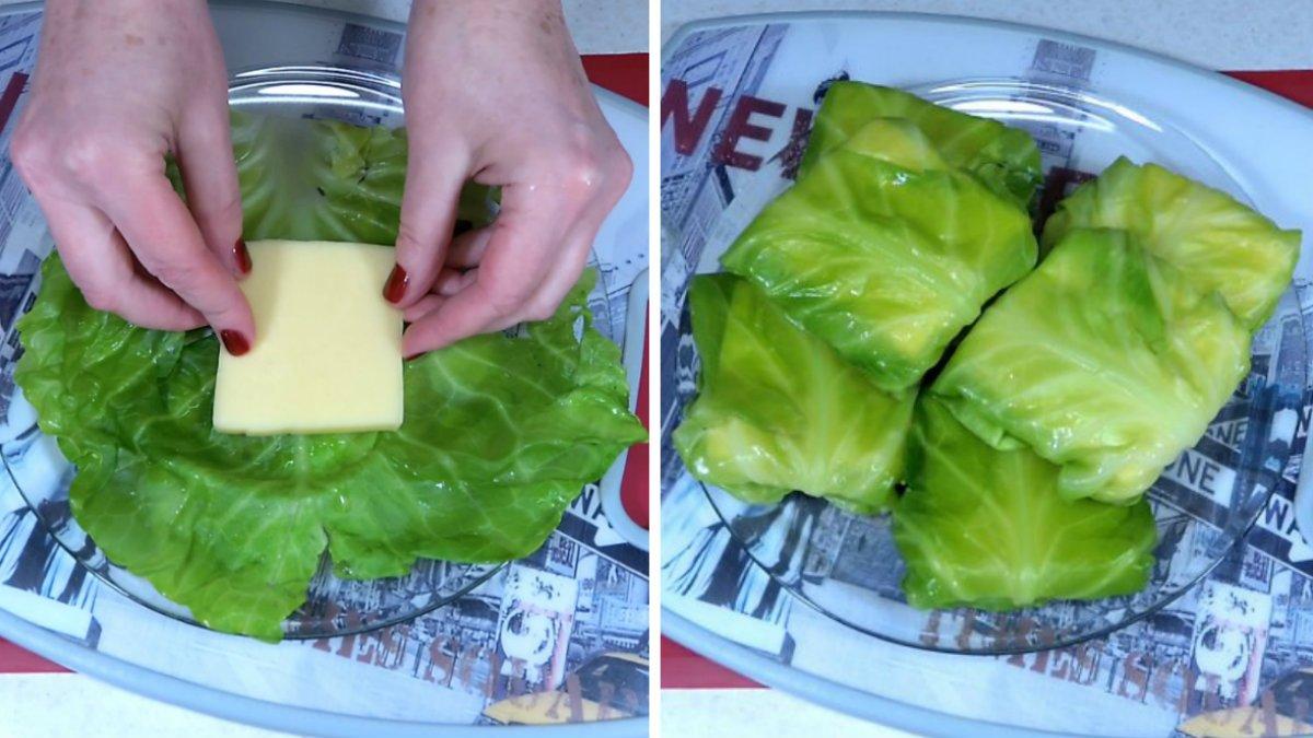 конвертики с твердым сыром