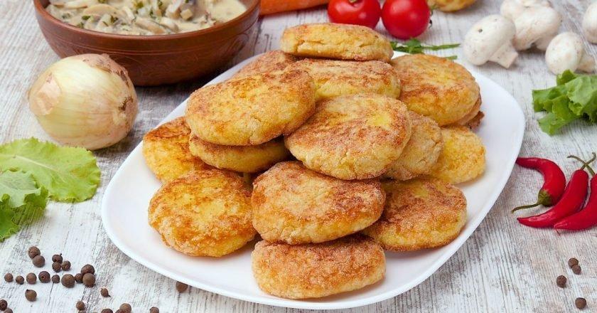 Котлеты с рисом и картофелем