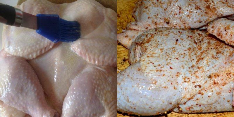 курица грильс мятным соусом