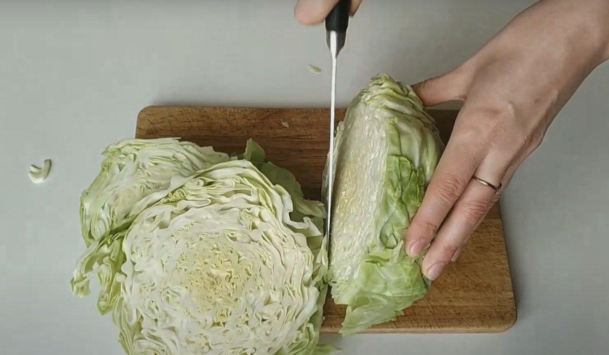 блюдо из молодой капусты