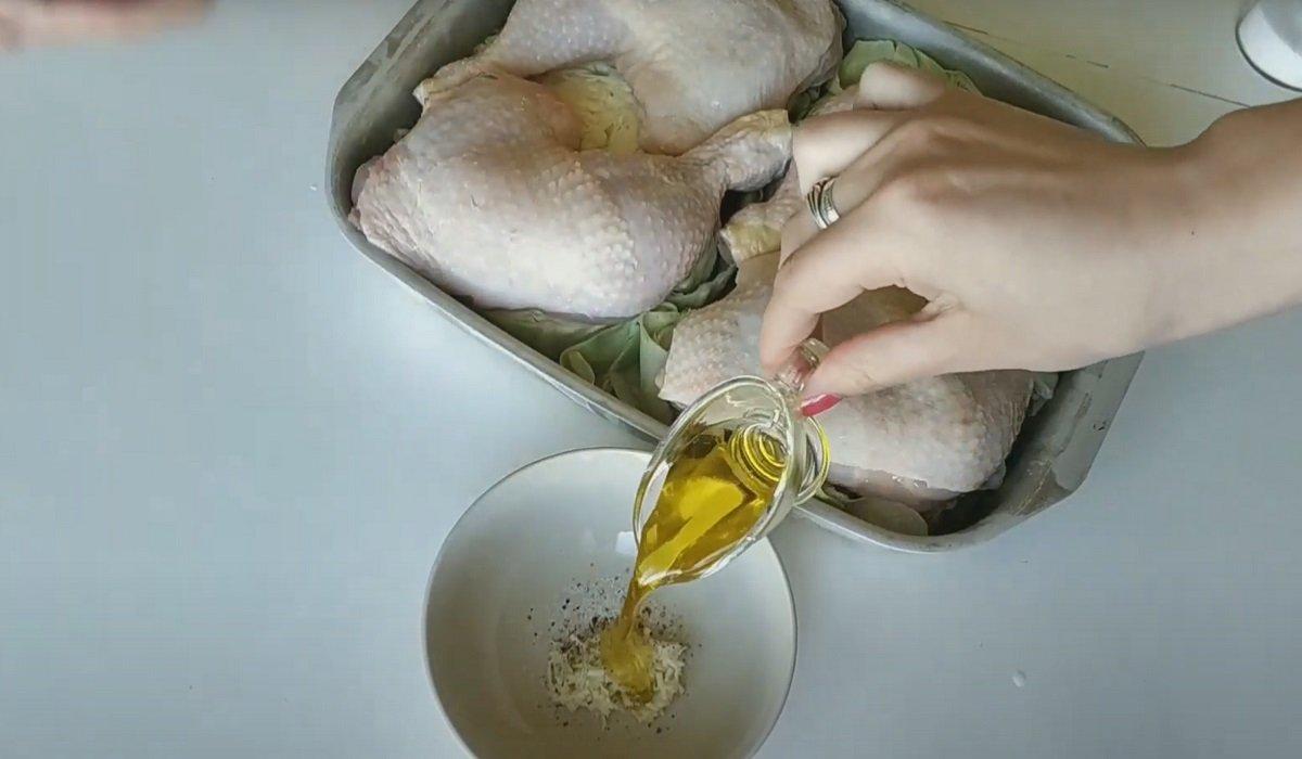 как приготовить курицу с капустой