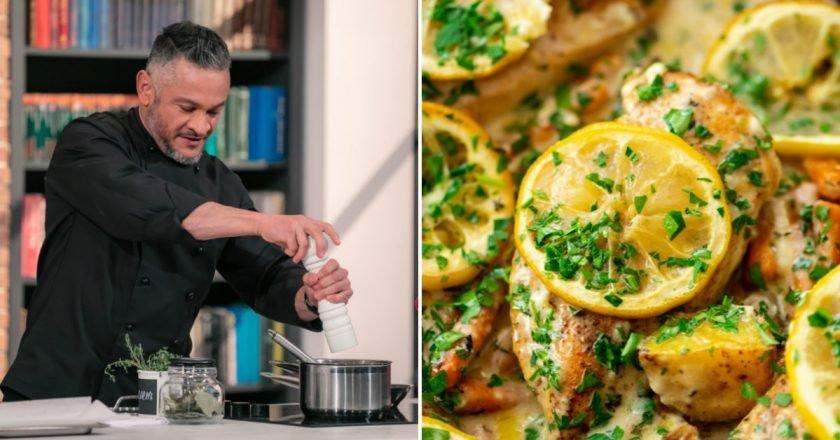 Курица с картошкой и лимоном в духовке