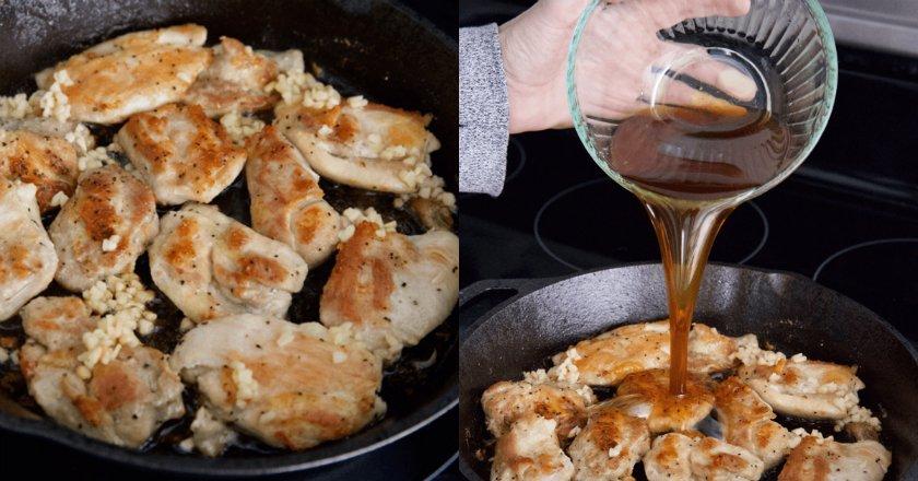 Курица с мёдом и чесноком